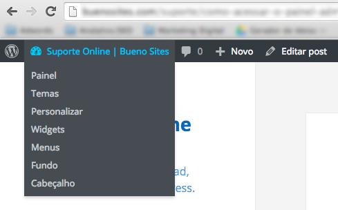 Painel Admin WordPress - Buenosites