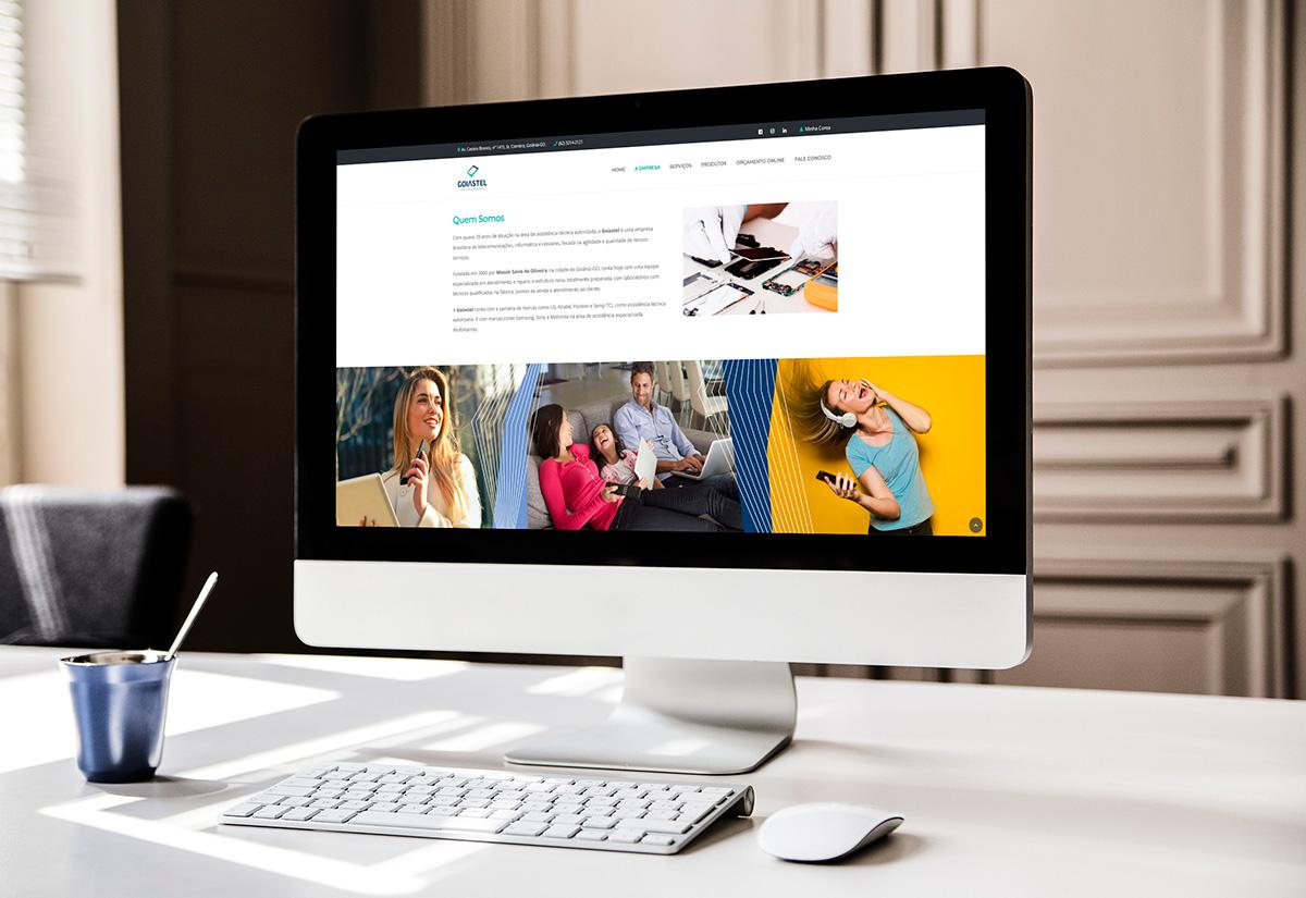 Criação de Sites Wordpress - Goiastel - BuenoSites.com