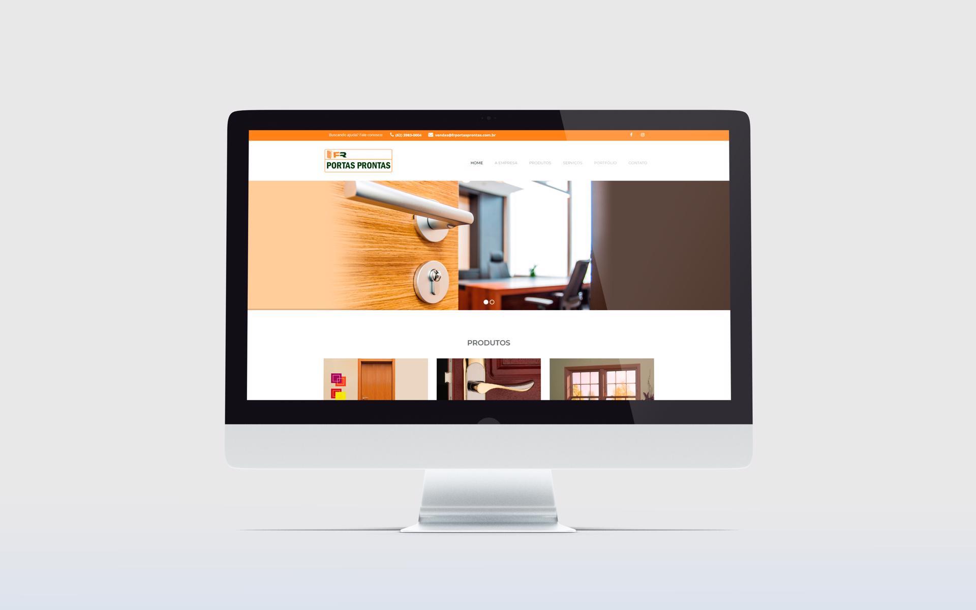Criação de Sites WordPress - FR Portas Prontas - Buenosites - Criação de Sites e Logotipos