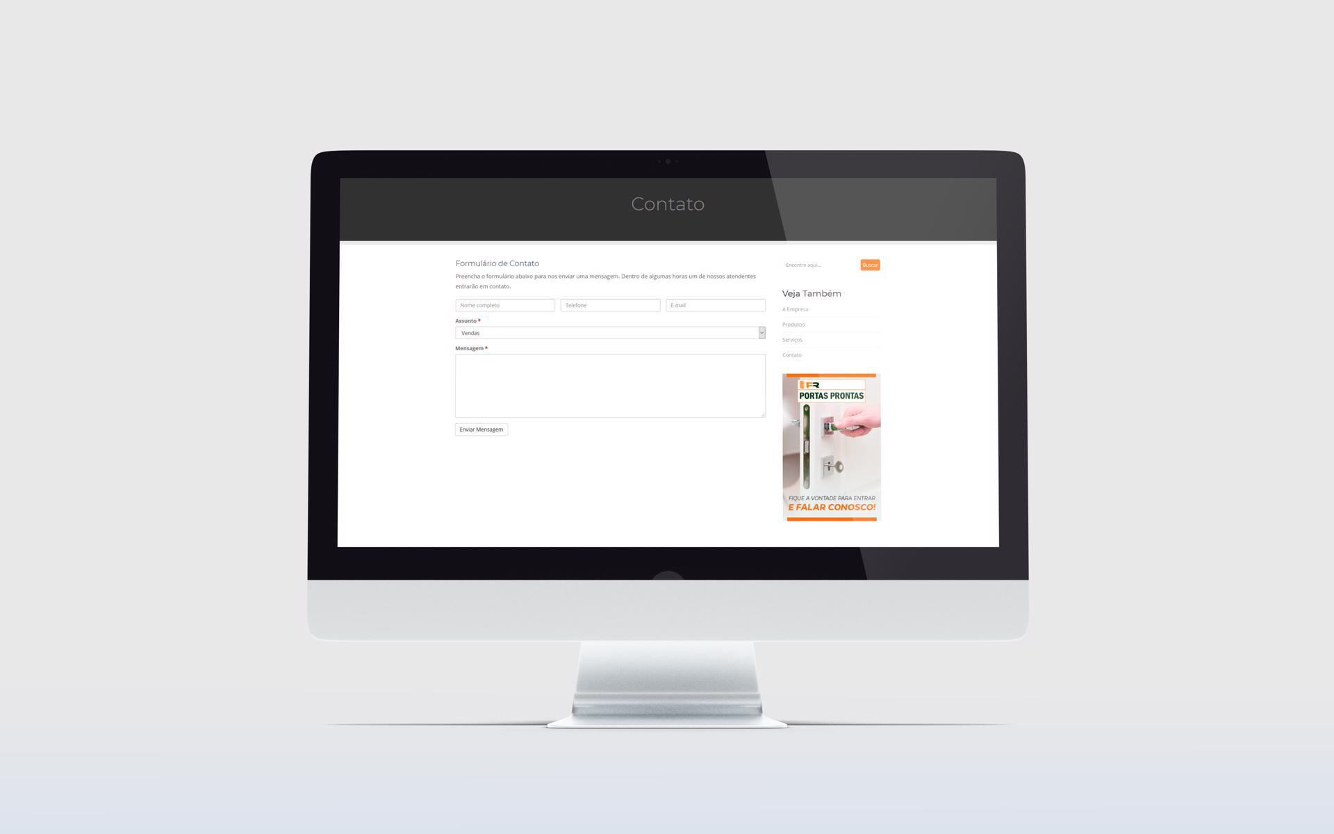 Criação de Sites - FR Portas Prontas - Buenosites - Criação de Sites e Logotipos