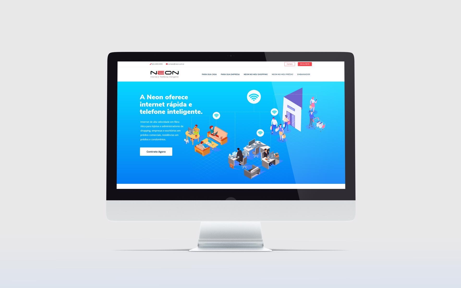 Criação de Sites WordPress - NEON Internet - Buenosites - Criação de Sites e Logotipos