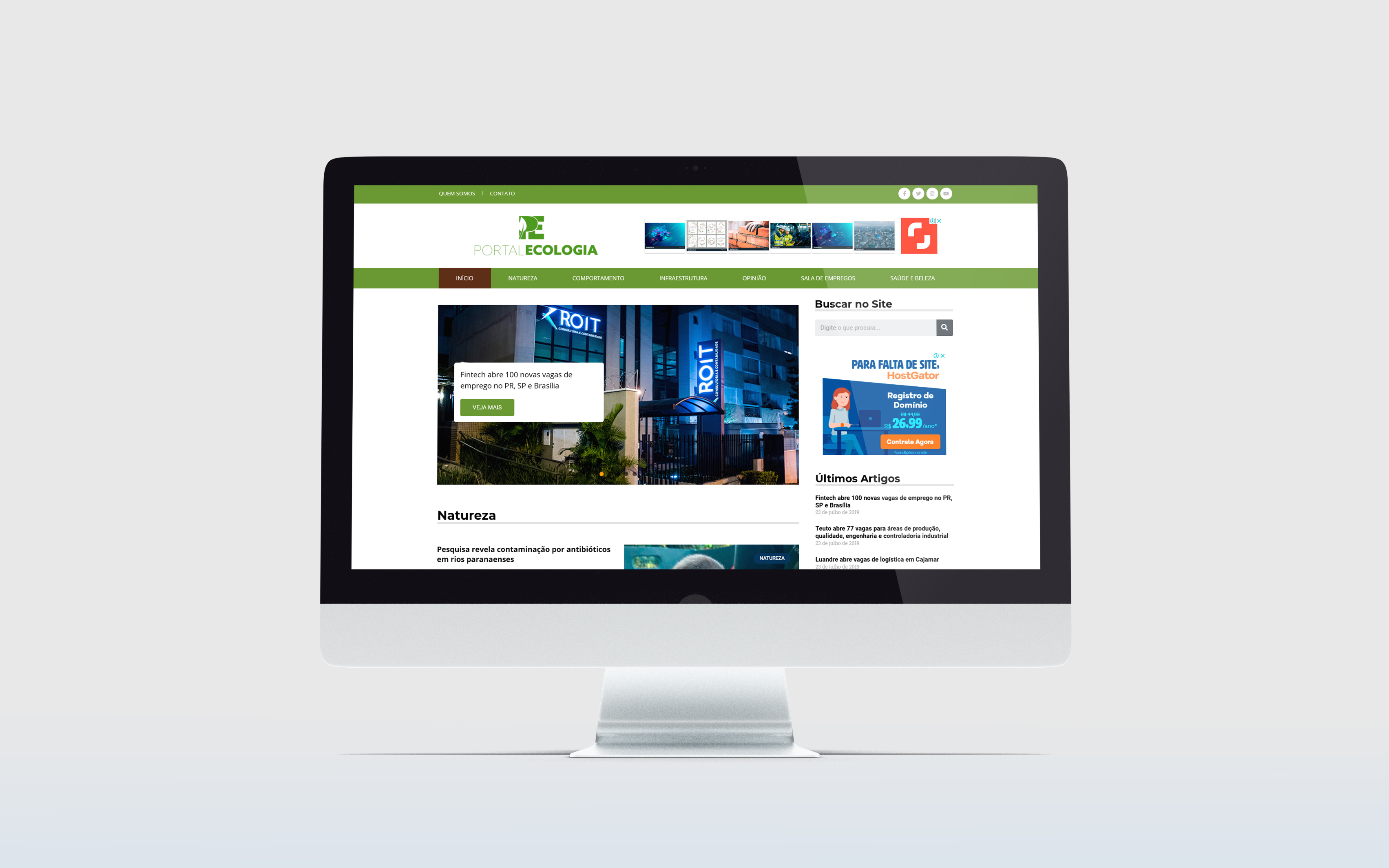 Criação de Sites WordPress - portal ecologia - Buenosites