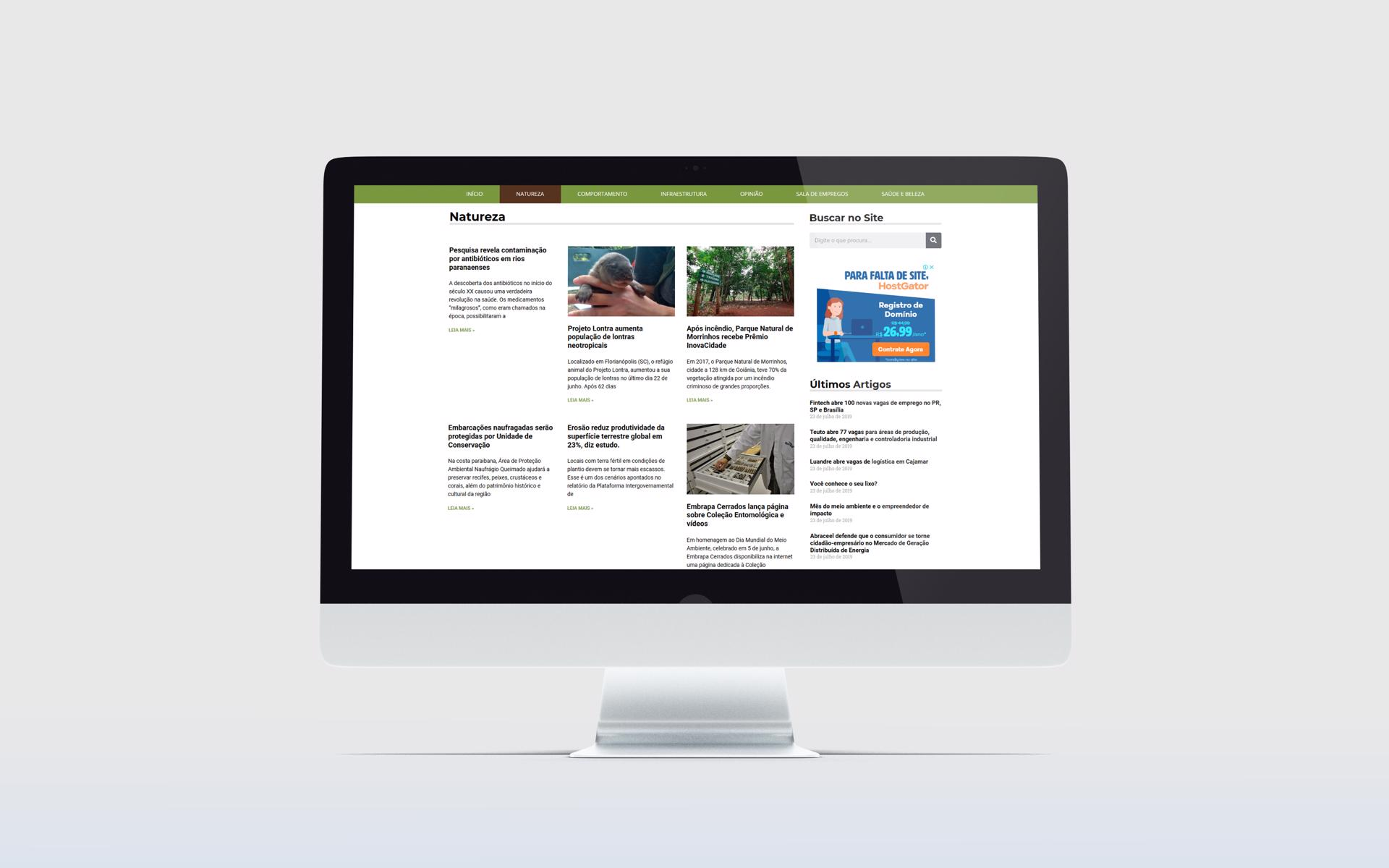 Criação de Sites - Portal Ecologia - Buenosites