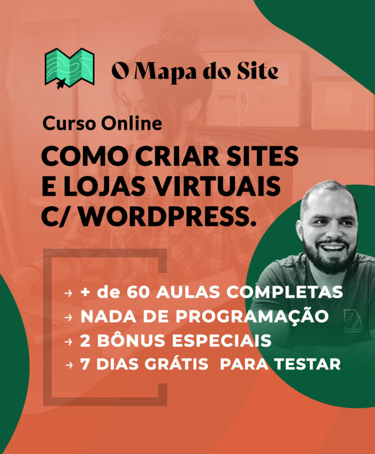 Banner - Curso Online O mapa do site - Buenosites