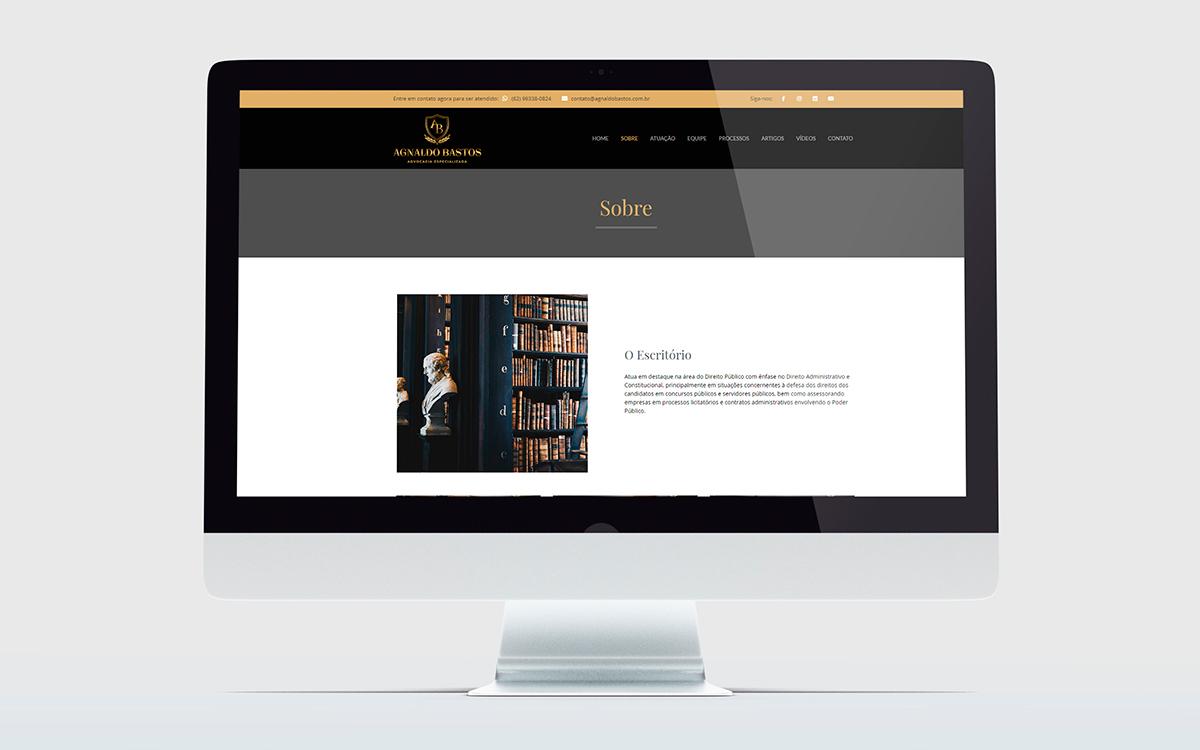 crição de sites wordpress - portfólio - Agnaldo Bastos - Buenosites