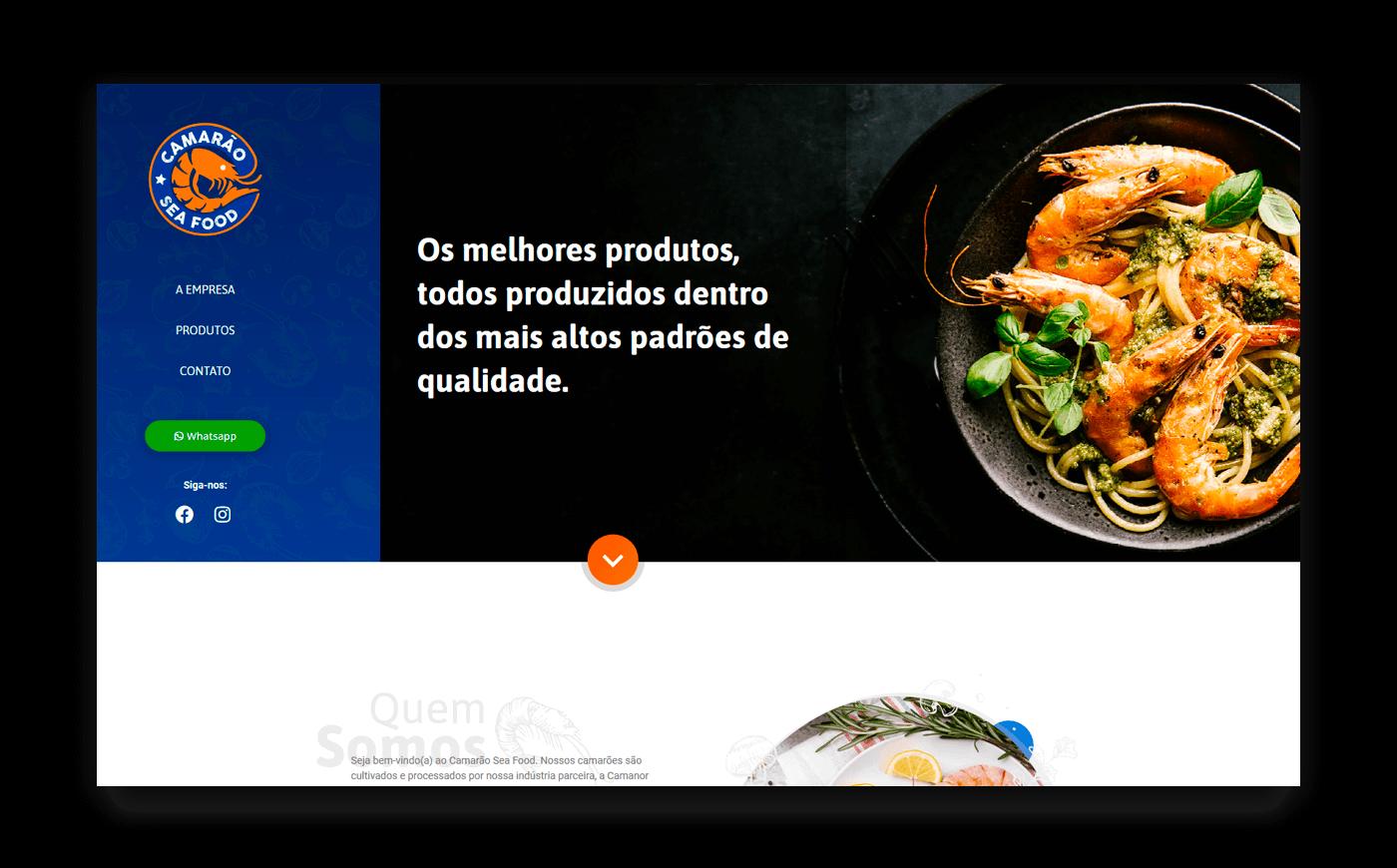Camarão Sea Food - Criação de Sites - Buenosites
